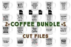 Coffee Quotes Bundle SVG EPS DXF PNG Example Image
