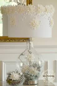 Fillable Glass Lamp Base by Poinsettias In The Snow 2013 Holiday Design Challenge Stonegable