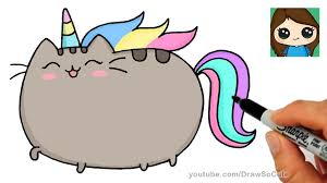 How To Draw Pusheen Unicorn Easy