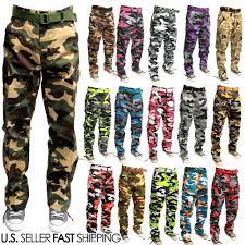 men military army camoflauge camo cargo pant combat cargo pants
