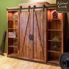 Walnut Creek Furniture Barn Door Inspired Entertainment Center Rustic