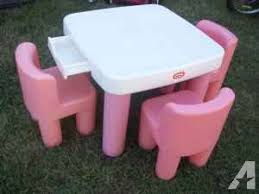 little tikes pink and white table and chairs w drawers extra