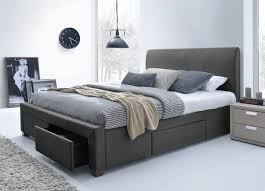 Wonderful King Size Platform Bed Frame with Storage — Modern