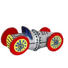 pot de yaourt recyclable voiture de course en pots de yaourt tête à modeler