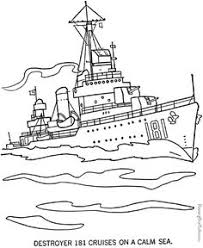 Military Ship Coloring Page