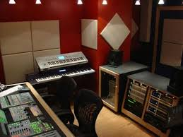 A Simple Red Music Studio