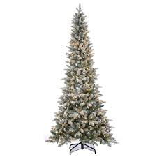 Flocked Real Christmas Trees by Sterling 7 5 Ft Pre Lit Lightly Flocked Canyon Fir Christmas Tree