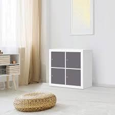 klebefolie für möbel ikea kallax regal 4 türen design grau light