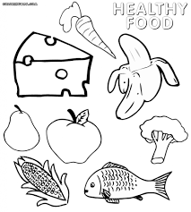 Epic Healthy Foods Coloring Pages