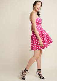 traveling cake pop truck a line dress in pink modcloth