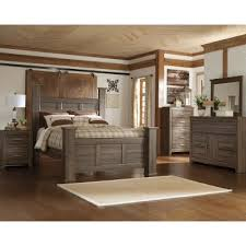 Driftwood Rustic Modern 6 Piece King Bedroom Set Fairfax