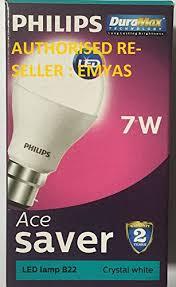 philips base b22 7 watt led bulb white pack of 3