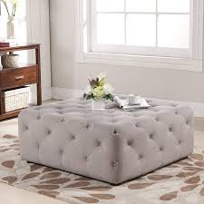 Coffee Tables Cocktail Ottoman Square Leather Table Oversized