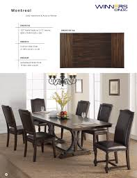 Winners Only Montreal Dining Furniture With Prices