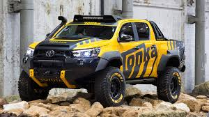 100 Tonka Truck Videos Playtime In The Toyota HiLux Concept And 2017 Toyota HiLux TRD