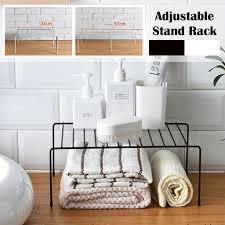 schwarz weiß küche schale teller aufbewahrung halter spice organizer badezimmer handtuch zahnbruch cup rack home space saver einstellbare länge