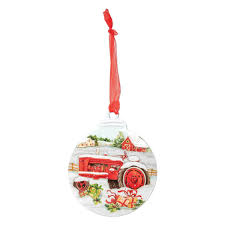 Tractor Christmas Ornament Brownlow