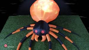 Halloween Blow Up Yard Decorations Canada by Fire U0026 Ice Spider Animated Airblown Inflatable By Gemmy Youtube