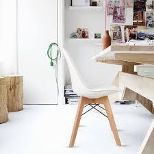 bathrins 4er set esszimmerstühle stühle küchenstühle zeitgenössisches nordisches und skandinavisches design weiss