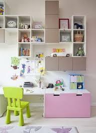 bureau avec ag es bureau fille stuva de chez ikea avec rangements muraux kid s room