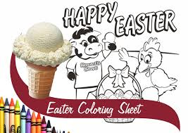 Free Ice Cream At Stewarts With Easter Coloring Sheet