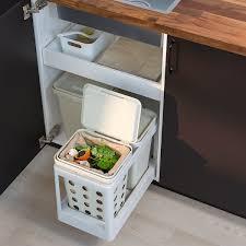 hållbar kompostbehälter mit deckel hellgrau 10 l ikea