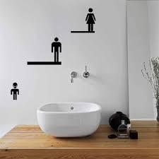 Diamond Embroidery Man Woman Kid DIY Bathroom Wash Room Toilet Art Home Decor Public Place Inform