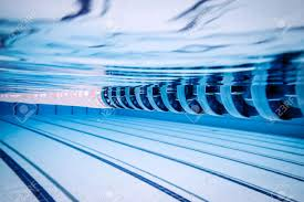 Swimming Pool Lanes Background Sports Particular Lane Of An
