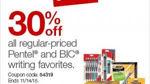 30% Off BIC And Pentel Writing Favorites With Coupon Code At ...