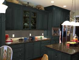 Dark Gray Color Painting Old Oak Kitchen Cabinets With Marble Countertop For Small Spaces Ideas