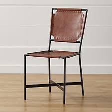 Crate And Barrel Lowe Chair by Crate U0026 Barrel Laredo Brown Leather Dining Chair Leather Dining