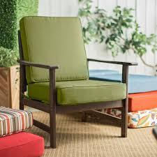 Steamer Chair Cushions Canada by Furniture Ideas Green Cushion Patio Chairs With Brown Hand Grip