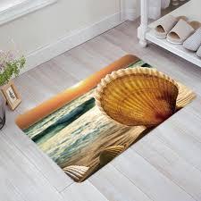 sunset surf shell fußmatten anti slip teppich teppich badezimmer eingang außen boden matte wohnkultur