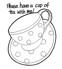Coloring Pages Cups Cup 7 Free Page Site Measuring Tea