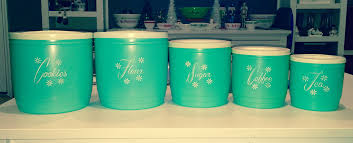 Turquoise Kitchen Canister Sets by Vintage Turquoise Plastic Kitchen Canisters I U0027m Thinking U2026 Flickr