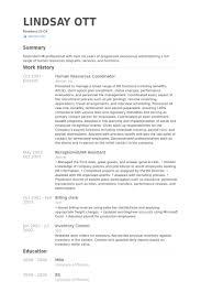 Functional Resume Template Hr Representative Coordinator Sample Example Human Resources Ideas