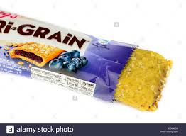 Kelloggs Blueberry Nutri Grain Fruit Breakfast Bar On A White Background
