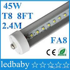 8 led 8ft single pin t8 fa8 single pin led lights 45w