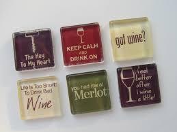 wine themed refrigerator magnets set of 6 fridge magnets 12 00