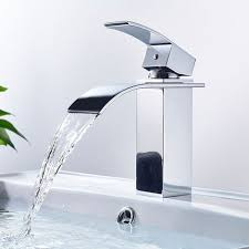 bonade wasserfall wasserhahn chrom einhebel waschtischarmaturen bad armatur für badezimmer waschbecken