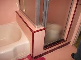 pepto pink to classic cool a bathroom remodel 1950s bathroom