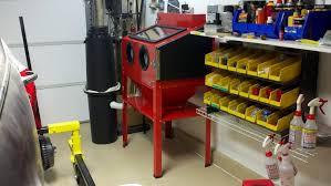 harbor freight soda blaster hf red blast cabinet the garage