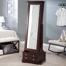 Bedroom Design: Inspiring Storage Ideas With Awesome Mirror ... Decor Lovable Brown Wood Giantex Jewelry Armoire Walmart Cabinet Decorating Luxury Wooden Standing Mirror In Dark Chic Pretty Design Of Perfect Ideas For White Big Lots Framed Wall Or Door Target Box With Necklace Holders The 45 Mounted Lighted Hammacher Schlemmer Gray Walnut With Of Fniture Sears Traditional Antique Cherry Lingerie Chest By Coaster Black Stealasofa Outlet Los