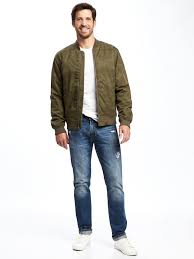 which jeans to wear with an olive bomber jacket men u0027s fashion