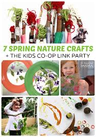 7 Simple Spring Nature Crafts For Kids The Co Op Link Party At