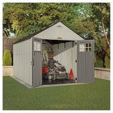 resin tremont storage shed 8 x 13 vanilla gray suncast target