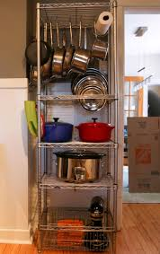 kitchen free standing kitchen shelf made of silver metal with