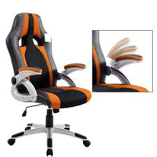 CTF High Back PU Leather & Fabric Racing Gaming Swivel Chair With  Adjustable Armrests, Orange Merax Orange High Back Gaming Chair With Lumbar Support And Headrest Cougar Armor S Luxury Breathable Premium Pvc Leather Bodyembracing Design Mid Century Modern Highback Lounge Revive Modern In Highback Swivel Black With Racing Style Ergonomic Office Desk By Morndepo Xl Executive Ribbed Pu Computer Gothic Inspired Velvet Throne Task Global Ding Chairs Upholstered Angelic Vini Furntech Gromalla Mesh Akracing Nitro Robus High Back From Stylex Architonic Video Bucket Seat Footrest Padding