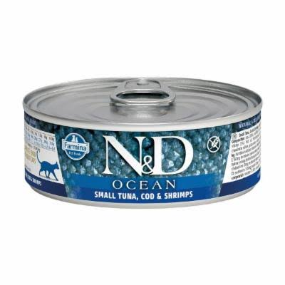 Farmina N&D Tuna, Cod & Shrimp Canned Cat Food | Tomlinson's Feed 2.8 oz