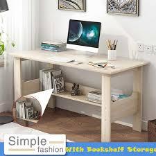 hause desktop computer schreibtisch mit bücherregal schlafzimmer laptop studie tisch schreibtisch workstation 100x45x72cm